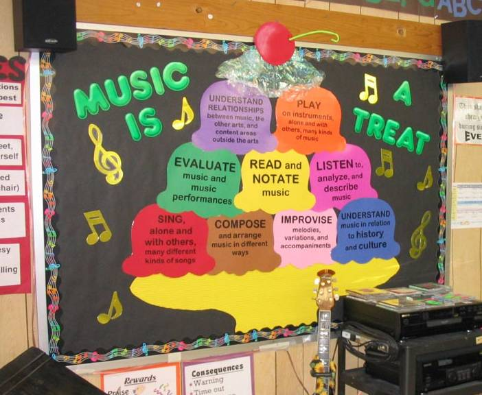 music is a treat bulletin boards